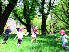 自然に親しむ園外保育・楽しい運動遊びを推進